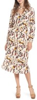 Love, Fire Women's Gigi Floral Surplice Midi Dress