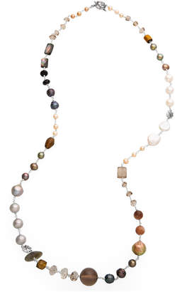Stephen Dweck Multi-Stone & Peacock Pearl Necklace