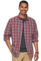 Men's SONOMA Goods for LifeTM Modern-Fit Checked Stretch Poplin Button-Down Shirt