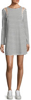 A.L.C. Chapman Striped Cotton Dress, White/Blue