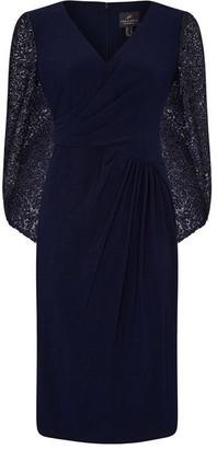 Adrianna Papell Draped Jersey Dress