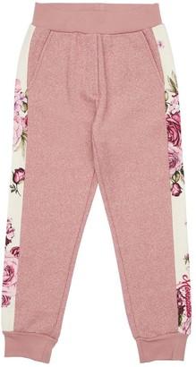 MonnaLisa Lurex & Cotton Blend Sweatpants