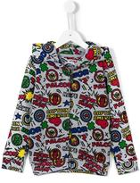 Little Eleven Paris Marvel zip hoodie
