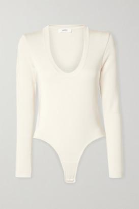 CASASOLA - Stretch-jersey Thong Bodysuit - Ivory