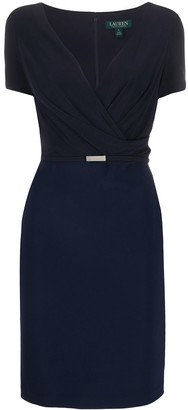 Lauren Ralph Lauren belted V-neck cocktail dress