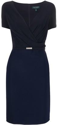 Polo Ralph Lauren belted V-neck cocktail dress