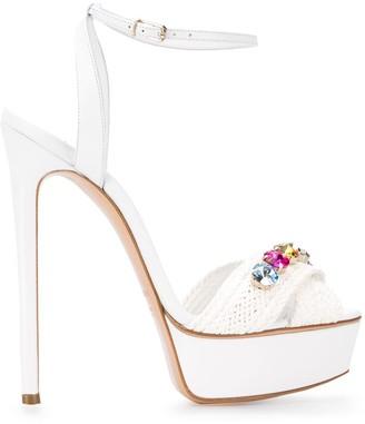 Casadei crystal embellished platform sandals