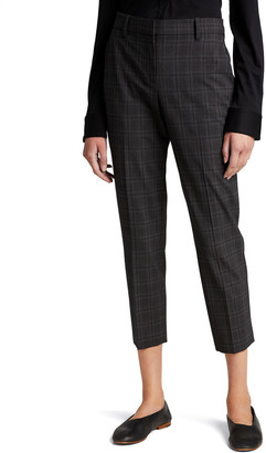 Theory Treeca 2 Plaid Wool Ankle Pants