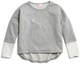 Design History Girls' French Terry Love Sweatshirt - Sizes S-XL