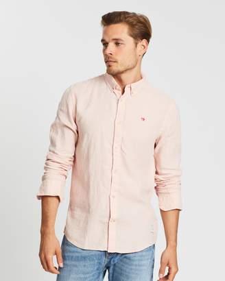 Scotch & Soda Garment-Dyed Linen Shirt