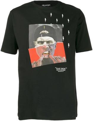 Neil Barrett photographic print lightning bolt T-shirt