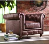 Home Decorators Collection Gordon Leather Arm Chair in Brown