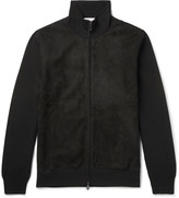 Brioni - Slim-fit Suede And Wool Bomber Jacket
