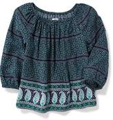 Old Navy Printed Boho Top for Girls