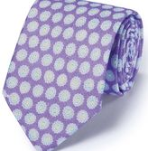 Charles Tyrwhitt Lilac linen English luxury floral tie