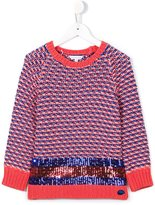 Little Marc Jacobs sequin stripe jumper