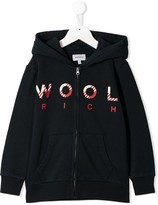 Woolrich Kids logo print hooded jacket