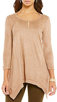 Chelsea & Theodore Faux-Suede Tunic