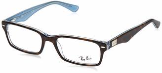 Ray-Ban Unisex's Rx5206 Rectangular Eyeglass Frames Prescription Eyewear