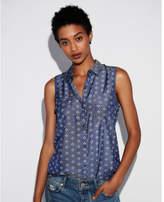 Express print sleeveless city shirt by