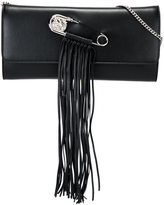 Versus safety pin clutch bag