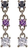 Judith Jack Faceted Princess Crystal & Marcasite Detail Drop Earrings