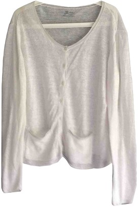 Non Signé / Unsigned Non Signe / Unsigned Oversize White Linen Knitwear for Women