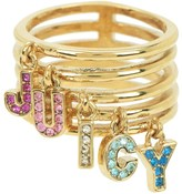 Juicy Couture Rainbow Juicy Stacked Ring