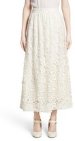 Co Women's Pebbles Embroidered Mesh Midi Skirt