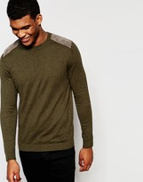 Asos Sweater in Cotton with Shoulder Patches