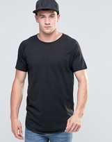 Jack and Jones Super Longline T-Shirt with Raw Edge