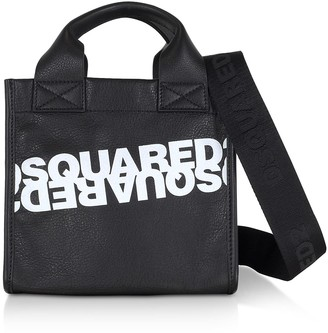 DSQUARED2 Printed Calf Leather Small Tote Bag
