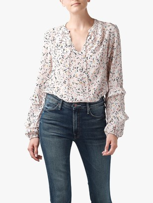 Lily & Lionel Rina Floral Print Blouse, Cream