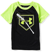 Under Armour Little Boys 2T-7 Breaking Bat Raglan Short-Sleeve Graphic Tee