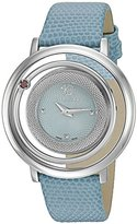Versace Women's 'Venus' Quartz Stainless Steel and Leather Casual Watch, Color:Blue (Model: VQV020015)
