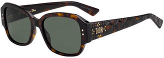 Christian Dior Lady Studs Rectangle Sunglasses