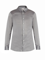 Brioni Button-cuff cotton-jersey shirt