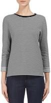 Whistles Stripe Bonded Sweatshirt