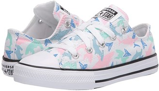 Converse Chuck Taylor(r) All Star(r) Shark Bite (Little Kid/Big Kid) (White/Fresh Mint/Black) Girl's Shoes