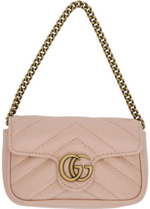 Gucci Pink GG Marmont Coin Case Bag