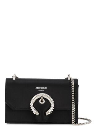 Jimmy Choo Paris crystal-embellished shoulder bag