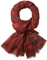 Scotch & Soda Star Printed Wool Scarf