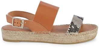 Andre Assous Heavenly Snakeskin-Embossed Leather Slingback Sandals