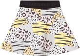 Kenzo Animal Print Skirt with Branded Waisband