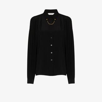 Givenchy Chain Detail Silk Shirt
