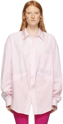 Balenciaga Pink and White Swing Shirt