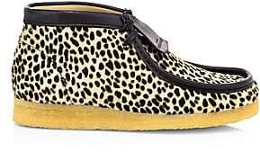 Clarks Men's Cheetah-Print Calf Hair Wallabee Boots