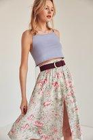 Ecote Kara Button-Front Midi Skirt