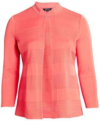 Misook Misook, Plus Size Dash Textured Knit Jacket