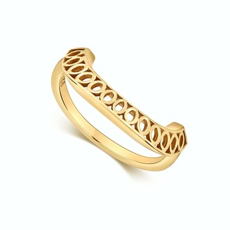 Little By Little Gold Crescent Ring | The Seville Collection